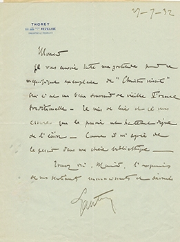 Letters from Le Maréchal Hubert Lyautey to Vincent to Jacques Des Roches, (pseudonym of Jean-Gabriel Vacheron). Le Maréchal Hubert Lyautey, recipient writer and Jacques Des Roches, writer, recipient Jacques Des Roches, Jean-Gabriel Vacheron.