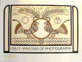 Early Masters of Photography [poster]. David Lance Goines.