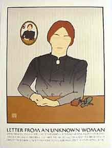 Letter from an Unknown Woman [poster]. David Lance Goines.