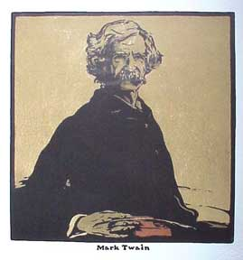 Portrait of Mark Twain (after William Nicholson). David Lance Goines.