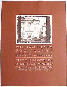 William Henry Fox Talbot [poster]. David Lance Goines.