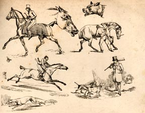 Racing and country sports. Scraps from the Scrap books of Henry Alken. Henry Alken.