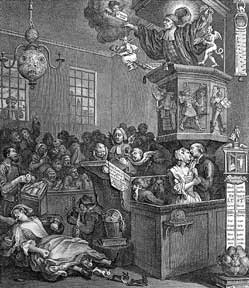 Credulity, Superstition, and Fanaticism. Third state. William Hogarth.
