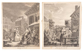 The Four Times of the Day. 4 Plates. William Hogarth.