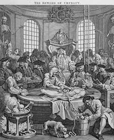 The Four Stages of Cruelty, four plates from The Works of William Hogarth from the Original Plates restored by James Heath, &c. William Hogarth.