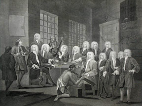 Bambridge on Trial for Murder by a Committee of the House of Commons, a plate from The Works of William Hogarth from the Original Plates restored by James Heath, &c. William Hogarth.