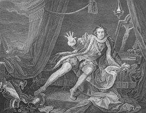 Garrick in the Character of Richard III, a plate from The Works of William Hogarth from the Original Plates restored by James Heath, &c. William Hogarth.
