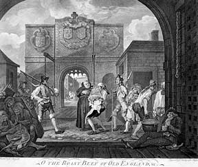 The Gate of Calais, or The Roast Beef of Old England. William Hogarth.