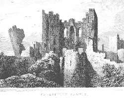 Caerphilly Castle, Glamorganshire. Woolnoth after Gastineau.