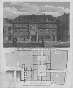 West View of Blackwell Hall, King Street Cheapside. after Schnebbelie Dale.