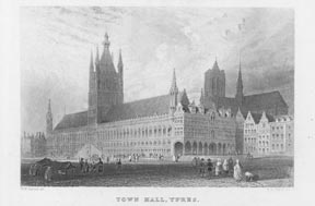 Town Hall, Ypres. A. H. after W. H. Bartlett Payne.