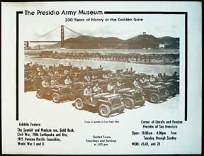 200 Years of History at the Golden Gate. Presidio Army Museum.