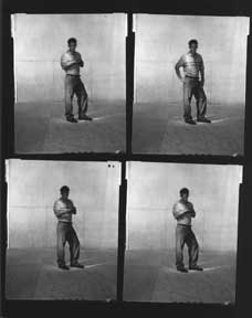 Branding Campaign, L2 Jeans, Twenty-two Contact Sheets of full-body shots, preppy jock look. Levi Strauss, Co, Calif San Francisco.
