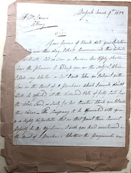 Letter to William James, Albany. William Bayard, Jr.