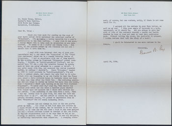 ALS from Frances B. Fox to Mr. Henry Tracy. Frances B. Fox.