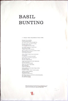 What the Chairman Told Tom. Basil Bunting.