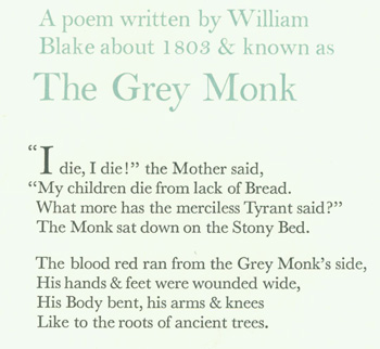 A Poem Written By William Blake About 1803 Known As The Grey Monk By William Blake Wesley Tanner On Alan Wofsy Fine Arts