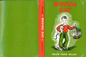 Dust Jacket only for Moving Day. Helen Train Hilles.