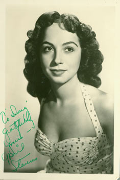 April Stevens photograph with original autograph. 20th Century American Photographer.