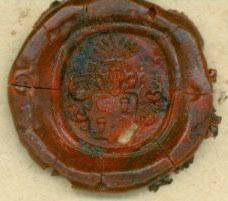 Stamped Wax Seal for [Carl Gustav?] von Homeyer. Carl Gustav?, von Homeyer.