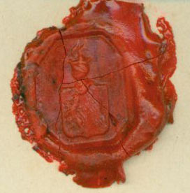 Stamped Wax Seal for [Paul] Freiherr von Toll. Paul, Freiherr von Toll.