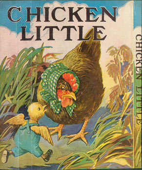 Dust Jacket for Chicken Little. Front Panel of Dust Jacket only. 20th Century American.