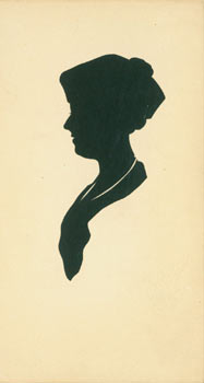 Post Card With Silhouette. Woodcut. American Silhouette Artist.