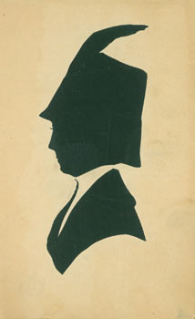 Souvenir Silhouette. Post Card Woodcut. NY Great Pure Food Grocery Siegel Cooper Co.
