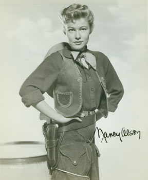 Autographed Black and White Photograph of American Actress Nancy Alson. Mid 20th Century Hollywood Photographer.