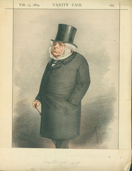 Statesmen, No. 3. Chromolithograph of John Bright, from Vanity Fair, February 13, 1869. Vanity Fair, UK London.