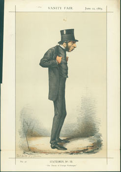 "Statesmen, No. 19. ""The Theory of Foreign Exchanges."" Right Honorable George J. Goschen, M. P. June 12, 1869. Vanity Fair, Day Vincent Brooks, Lithographers Son, UK London."