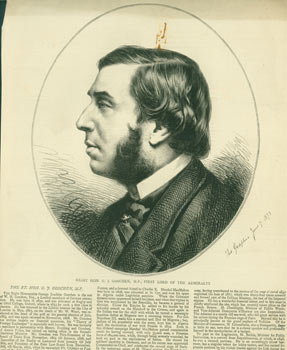 The Right Honorable George J. Goschen, First Lord of the Admiralty. The Graphic, London.