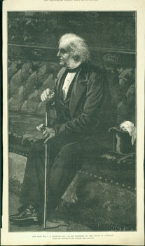 John Arthur Roebuck, M.P. December 13, 1879. The Illustrated London News, William Lionel Wyllie, illustr.