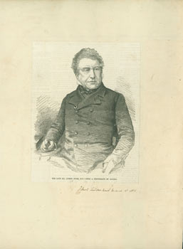 Mr. Joseph Hume, M.P. March 3, 1855. The Illustrated London News, Smyth, engrav., Frederick James.