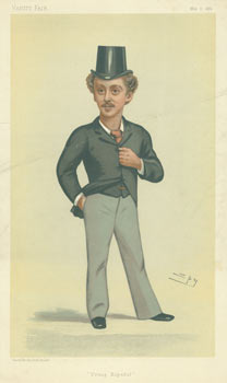 """Young Hopeful."" Mr. Herbert John Gladstone, M.P. May 6, 1882. Vanity Fair, Day Vincent Brooks, Son, UK London, lith."