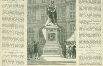 The Prince Of Wales Unveiling The Statue Of Sir Bartle Frere On The Thames Embankment. Illustrated London News ., London.