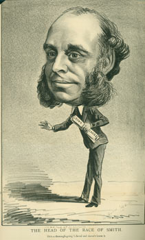 The Head Of The Race Of Smith. He's A Thorough-Going Liberal And Doesn't Know It. The Right Hon. W. H. Smith, M.P., First Lord of the Treasury. July 5, 1871. The Hornet, London.