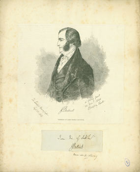 Original Autograph by & Portrait of Lord George Cavendish Bentinck. Lady's Newspaper, Count Alfred Guillaume Gabriel d'Orsay, London, After.