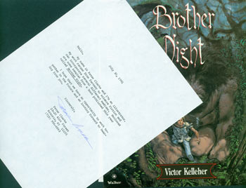 Typed letter, signed, Peter Clarke to Herb Yellin. July 30, 1991. Illustrator pitching his services. Peter Clarke.