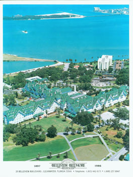 Belleview Biltmore Resort & Spa. Promotional Color Photograph, taken 23 years before it closed its doors in 2009. Belleview Biltmore Resort, Spa, Florida Clearwater.