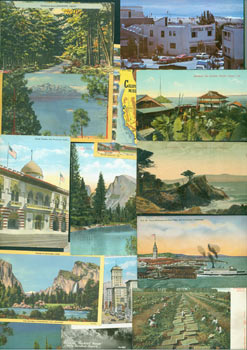 Vintage California Postcards (25). Goeggel, Weidner Publishers, Western Publishing Capitola Hotel, Frasher's Inc Novelty Co., San Francisco, Los Angeles, CA Pomona.