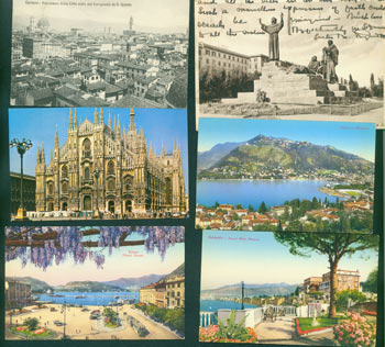 Vintage Postcards of Italy (8). Enrico Verdesi, Brunner, Co, Trans World Airlines, Co., Roma, Italy Como, NY.
