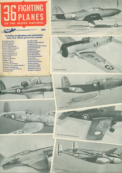 36 Fighting Planes Of The Allied Nations. Photo Pack No. 1. Including Specifications and Performance Data from Official Government Sources. Lockheed Bell, Grumman, Northrop.