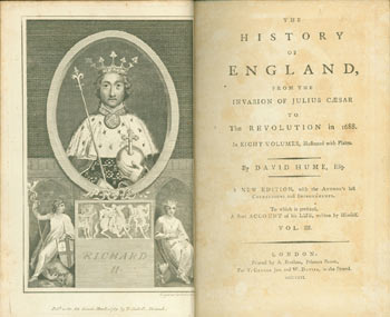 The History Of England. From the Invasion of Julius Caesar to the Revolution in 1688. Volume III. David Hume, A. Strahan, print.