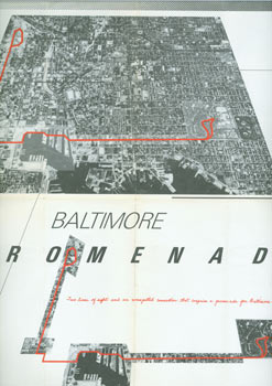 Baltimore Promenade. Maryland Institute, College of Art. December 13, 1981 - January 20, 1982. Washington Project for the Arts, Winter 1982, and Ronald Feldman Fine Arts, NYC, Spring 1982. Harrison Studio, Helen Mayer Harrison, Newton Harrison, Peter Selz, 1927 - 2018, b. 1932.