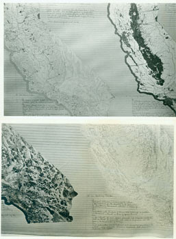 8 x 10 Glossy B&W Photos for Sketch For Meditations On The Condition Of The Sacramento River, The Delta, And The Bays At San Francisco Exhibition. Harrison Studio, Edmund Shea, photog.