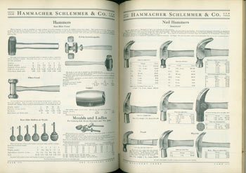 Hardware Tools & Supplies, Catalogue No. 500. Hammacher Schlemmer & Co., New York. Hammacher Schlemmer, New York Co.