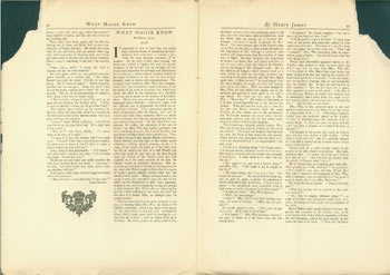 What Maisie Knew, XXIV, XXV. Original First Edition. First Published in Serial Form in The Chap-Book, Vo. VII, No. 3, June 15, 1897. Henry James, Herbert S. Stone, Co, Chicago.