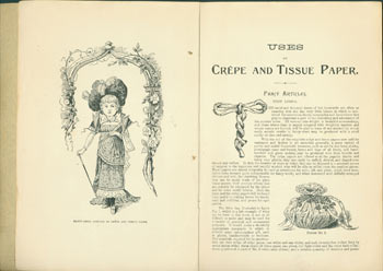 Uses Of Crepe And Tissue Paper. Metropolitan pamphlet series, v. 8, no. 1. London, New York, Tillie Roome Littell, Butterick Publishing Co.