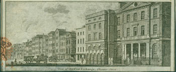View Of The Coal Exchange, Thames Street. 18th Century British engraver.